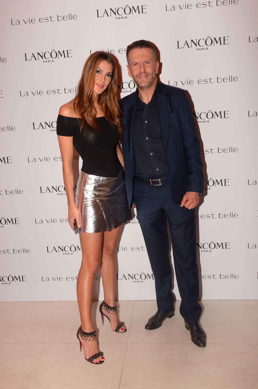 Iris Mittenaere et Tamim El Mili (Directeur Général L'Oréal Luxe France) à la soirée Lancôme, à Paris le 12 septembre 2018