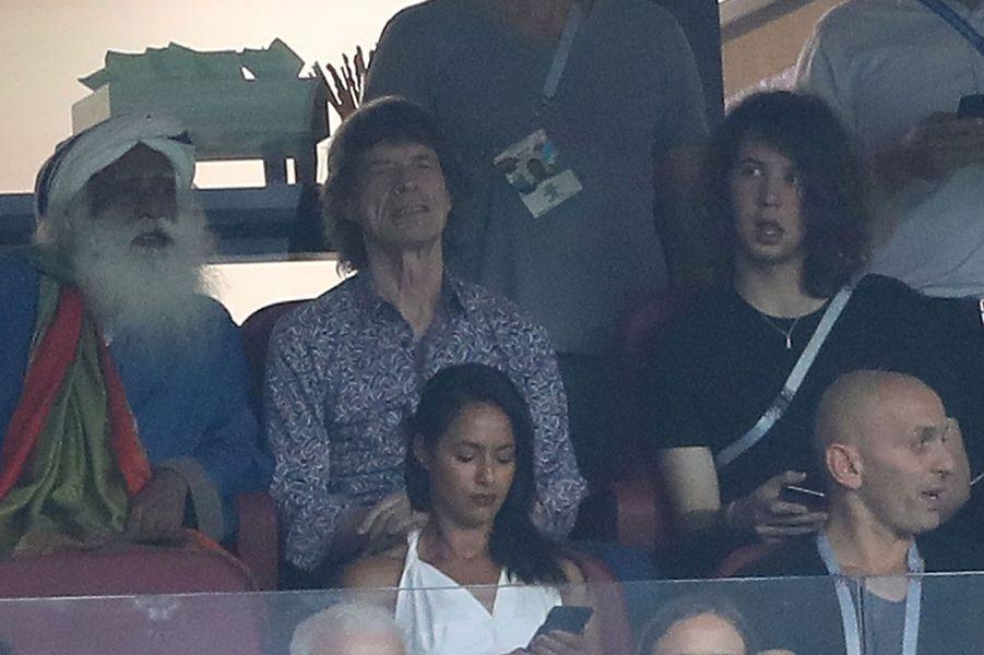 Mick Jagger et son fils Lucas (à gauche)