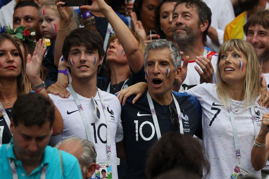Dylan Deschamps, Nagui et son épouse Mélanie Page