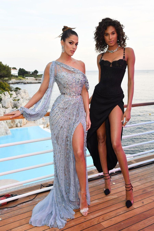 Iris Mittenaere et Cindy Bruna lors de la soirée De Grisogono au Cap d'Antibes, le 21 mai 2019