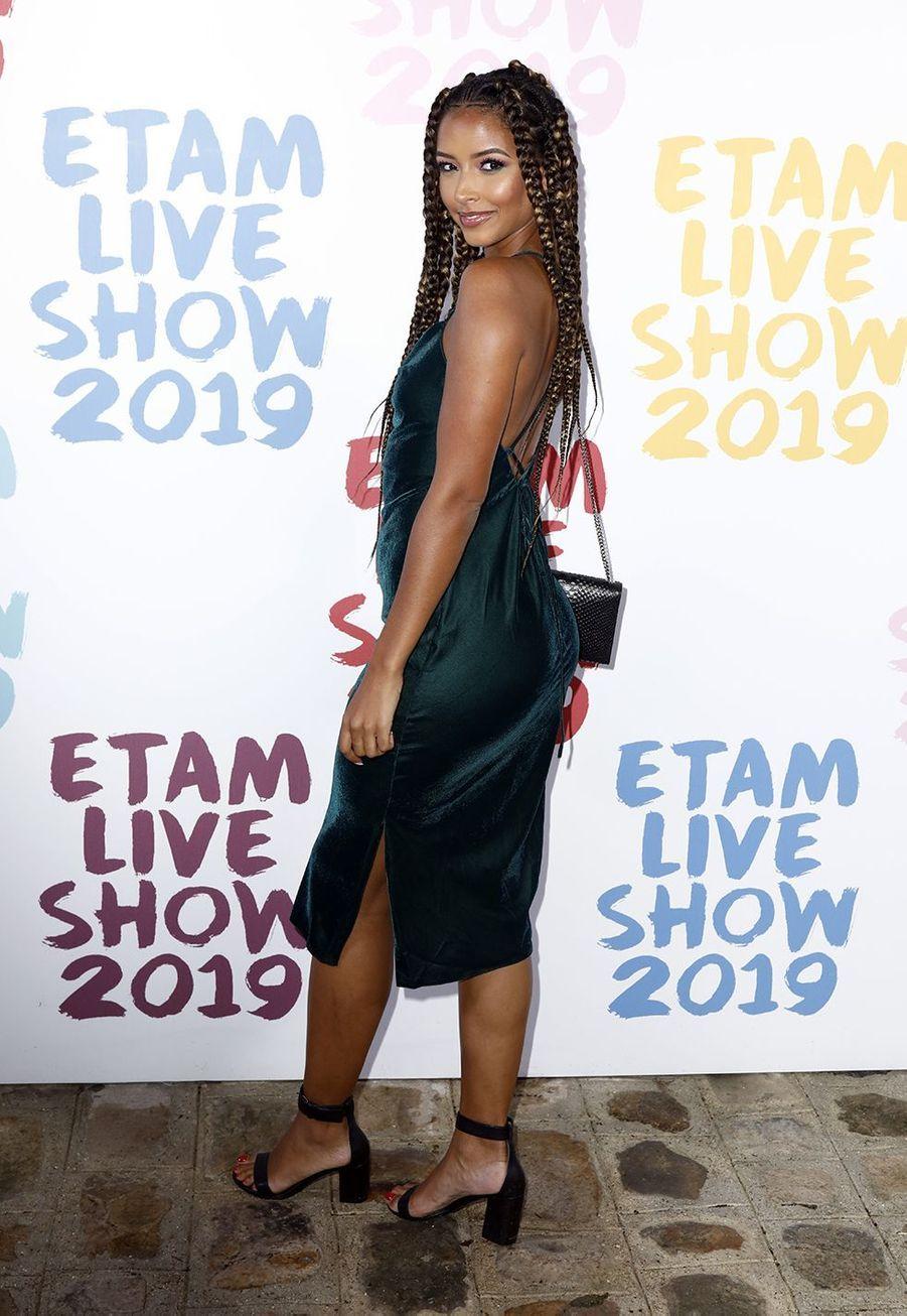 Flora Coquerelau défilé de la marque Etam à Roland-Garros à Paris le 24 septembre 2019