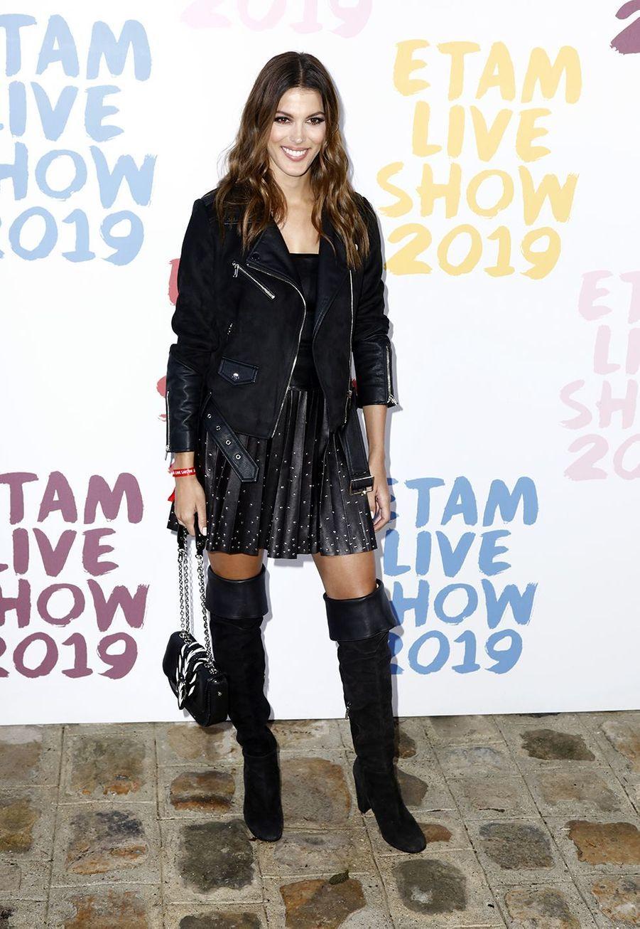 Iris Mittenaere au défilé de la marque Etam à Roland-Garros à Paris le 24 septembre 2019