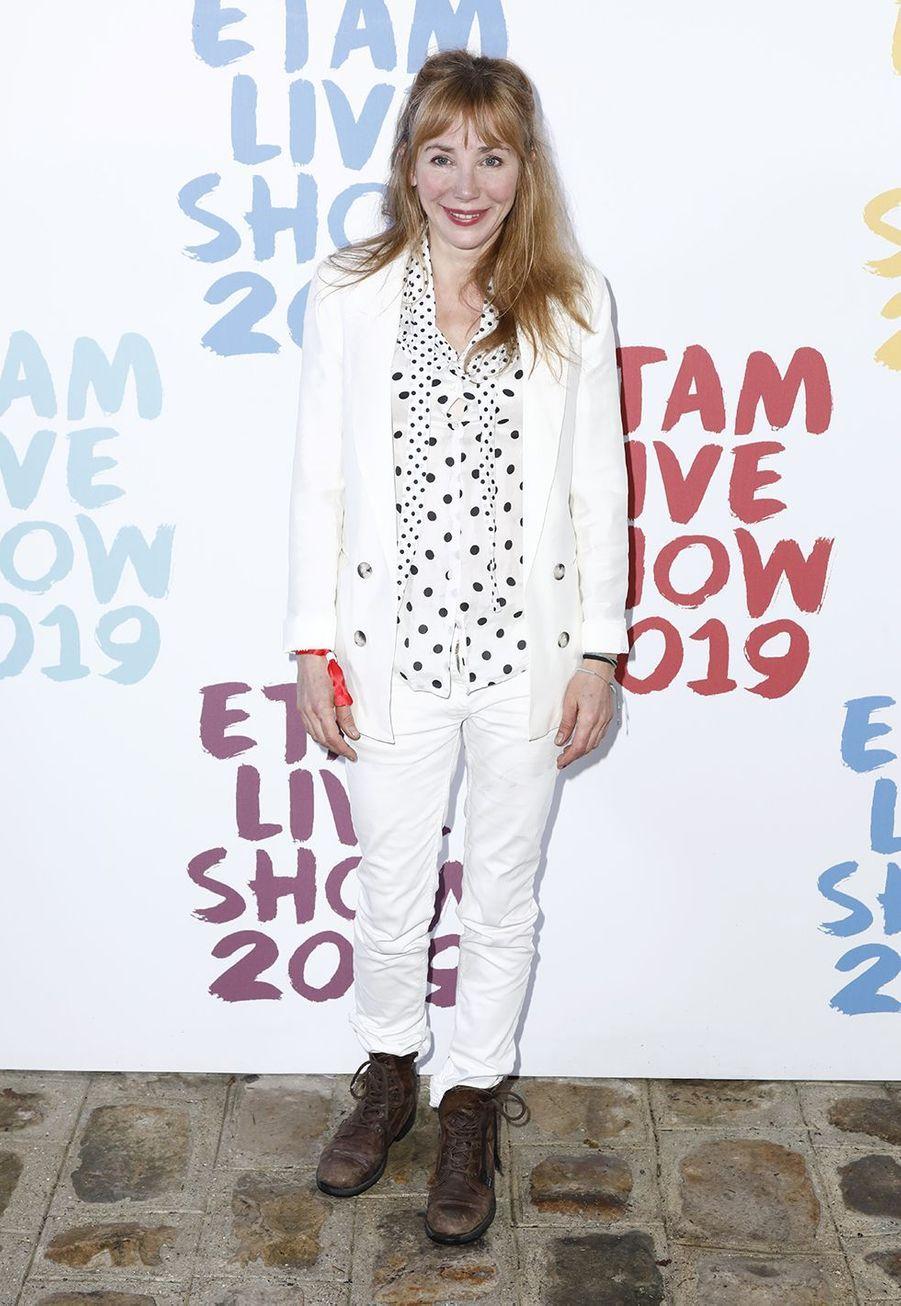 Julie Depardieuau défilé de la marque Etam à Roland-Garros à Paris le 24 septembre 2019