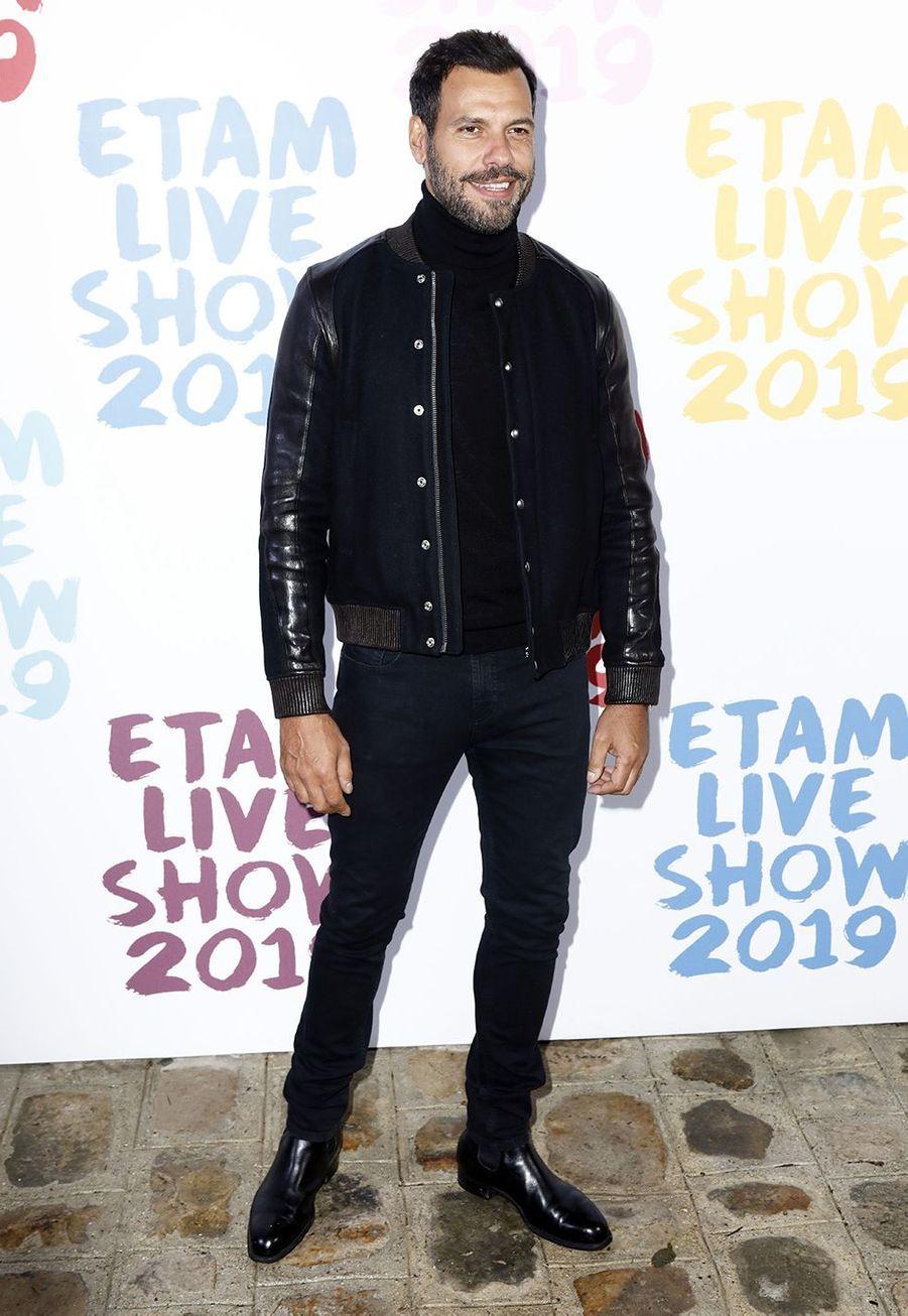 Laurent Lafitteau défilé de la marque Etam à Roland-Garros à Paris le 24 septembre 2019