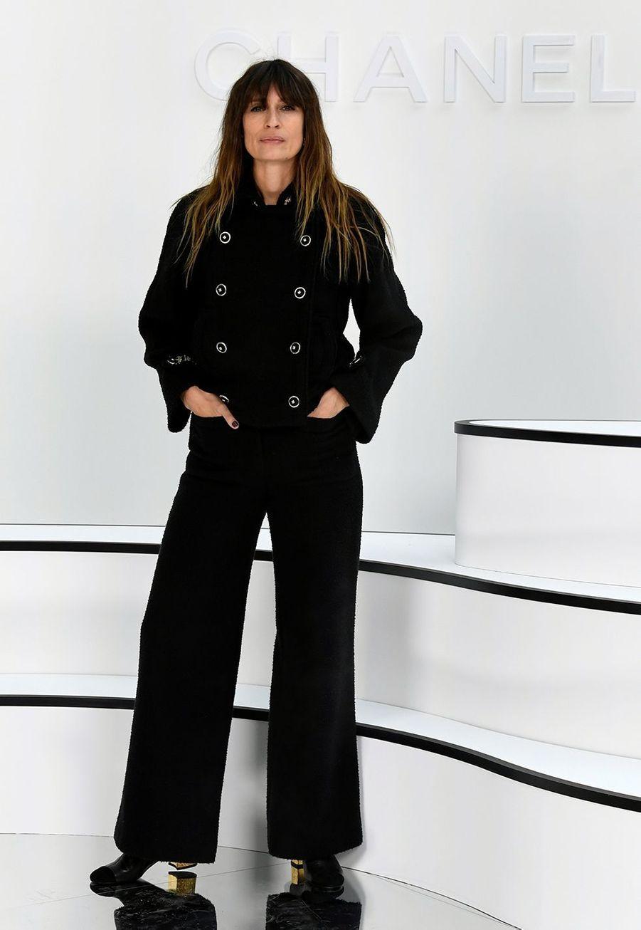 Caroline de Maigret au défilé Chanel à Paris le 3 mars 2020