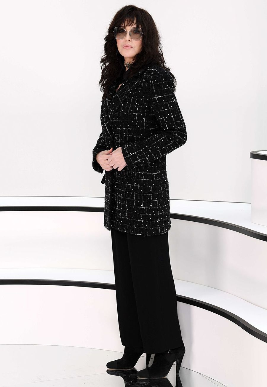 Isabelle Adjaniau défilé Chanelà Paris le 3 mars 2020