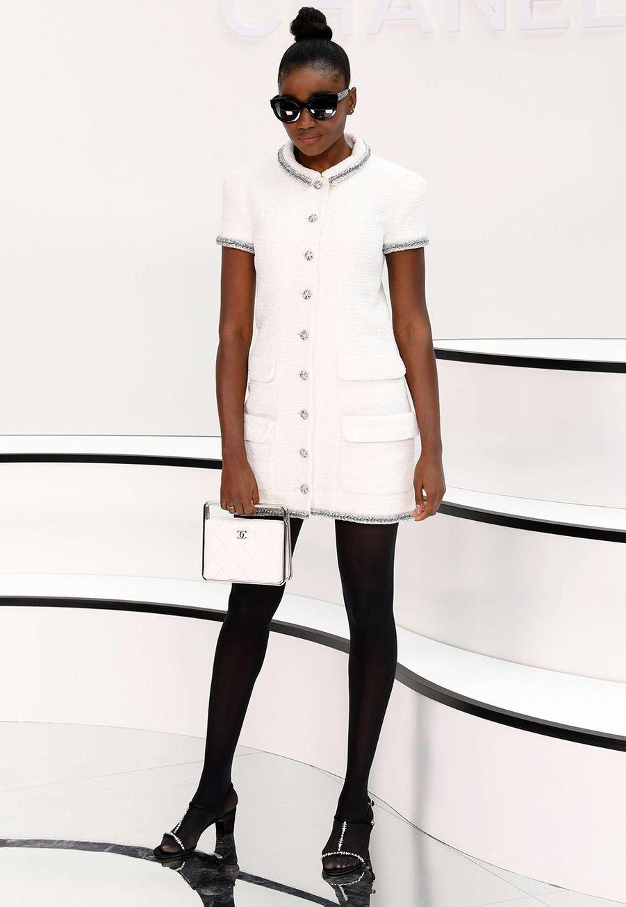 Karidja Touréau défilé Chanelà Paris le 3 mars 2020