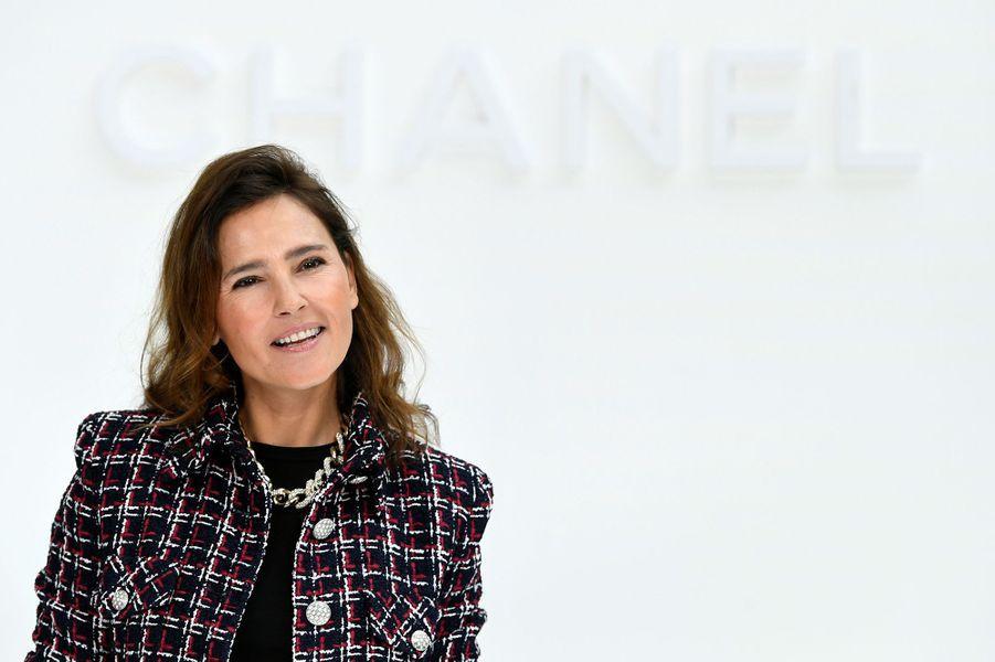 Virginie Ledoyenau défilé Chanelà Paris le 3 mars 2020