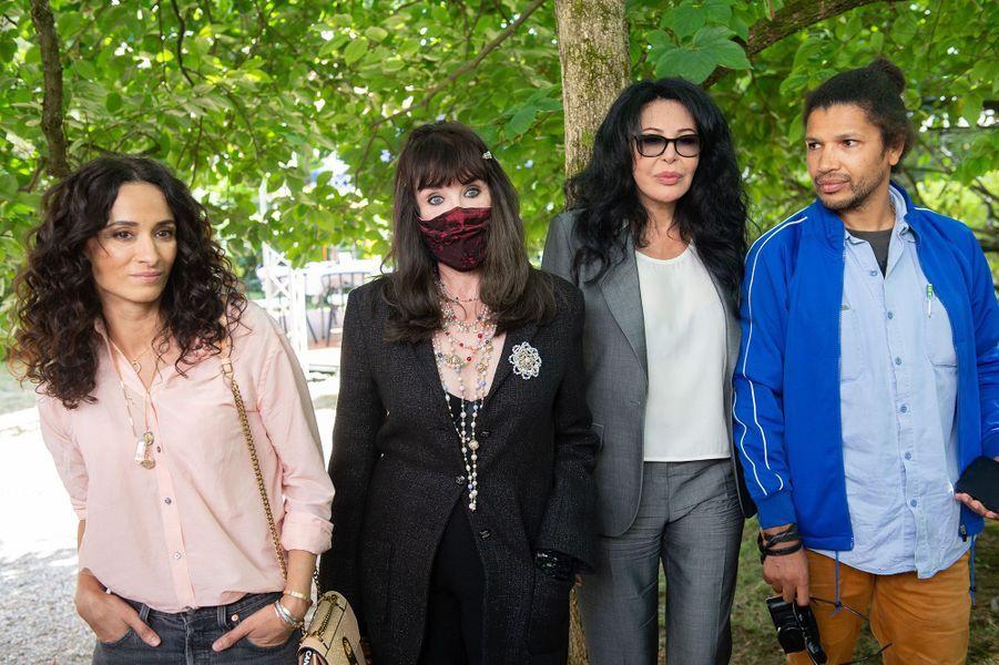 Rachida Brakni, Isabelle Adjani, Yamina Benguigui et Rachid Djaïdaniau Festival du film francophone d'Angoulême pour la présentation du film «Soeurs» le 31 août 2020