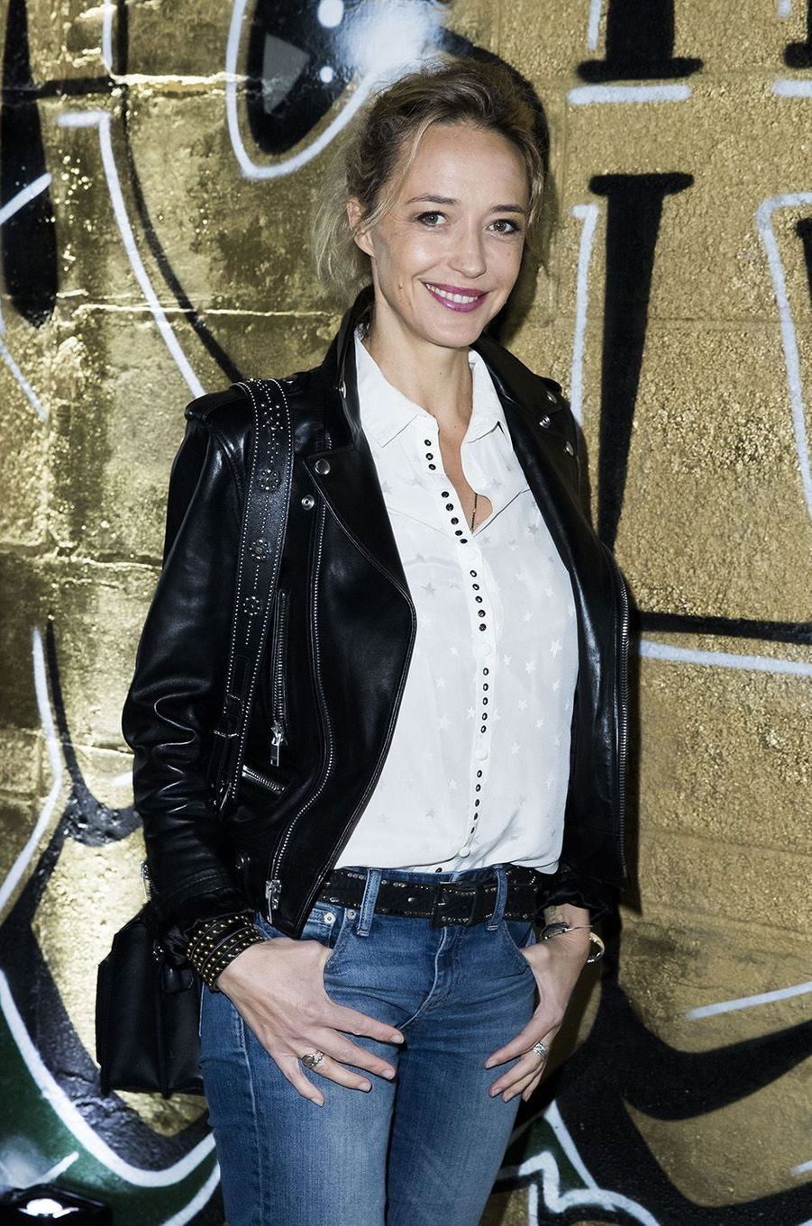 Hélène de Fougerolles à l'inauguration de l'exposition Boucheron à la Monnaie de Paris, le 11 janvier 2018.