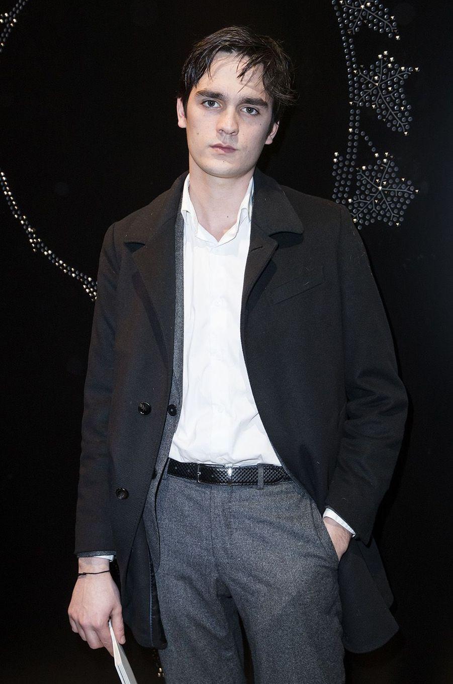 Alain-Fabien Delon à l'inauguration de l'exposition Boucheron à la Monnaie de Paris, le 11 janvier 2018.