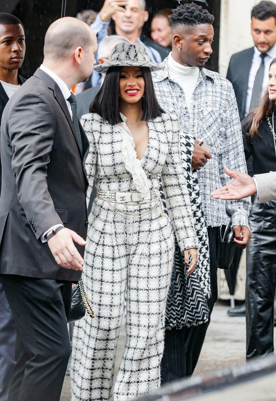 Cardi Bau défilé Chanel à Paris le 1er octobre 2019