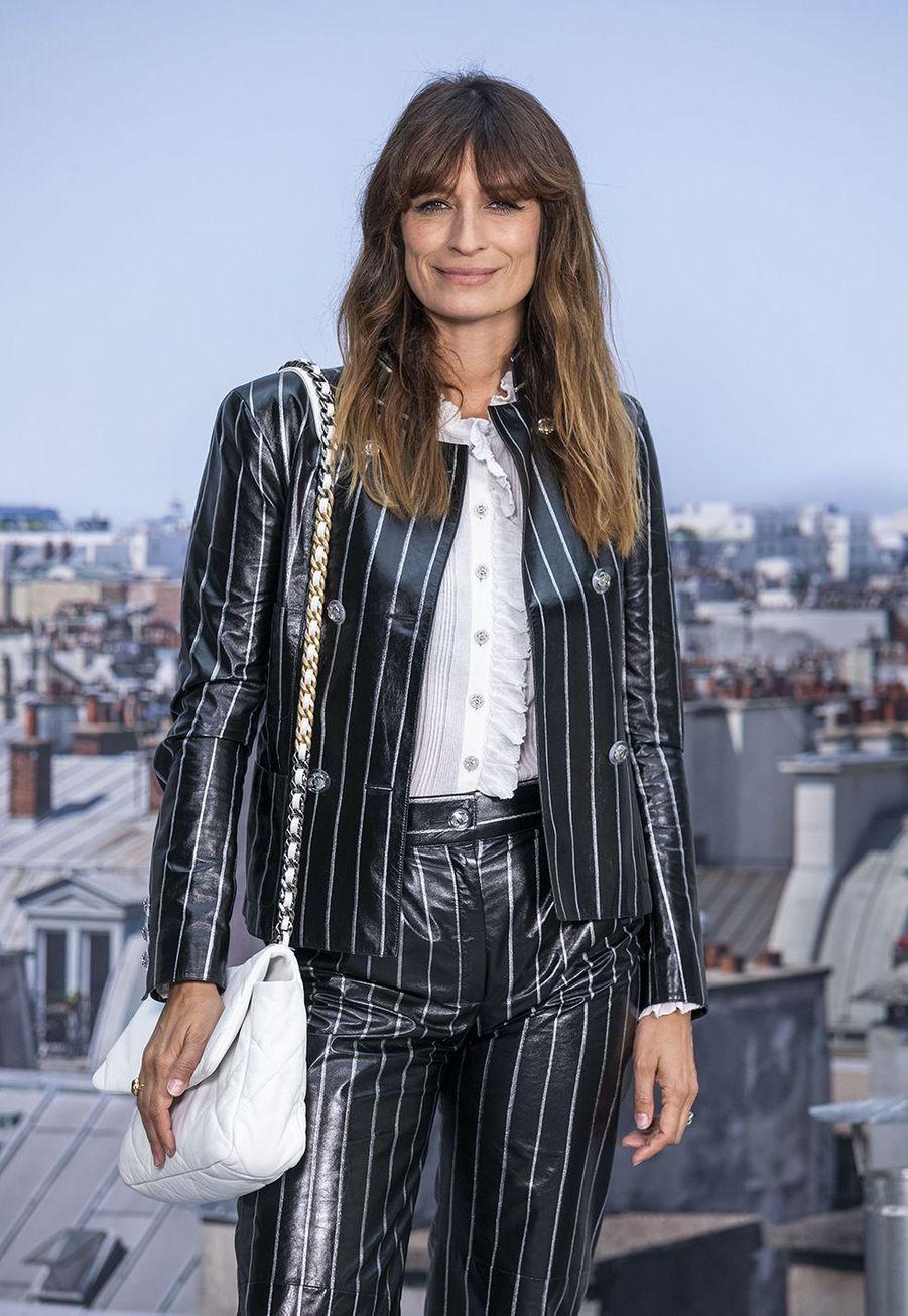 Caroline de Maigretau défilé Chanel à Paris le 1er octobre 2019
