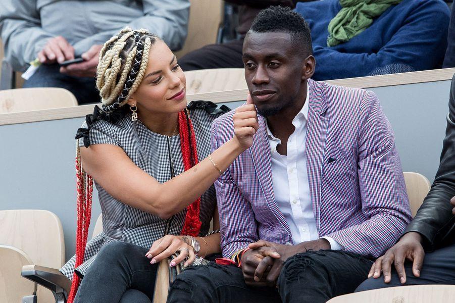 Isabelle et Blaise Matuidi à Roland-Garros en mai 2019
