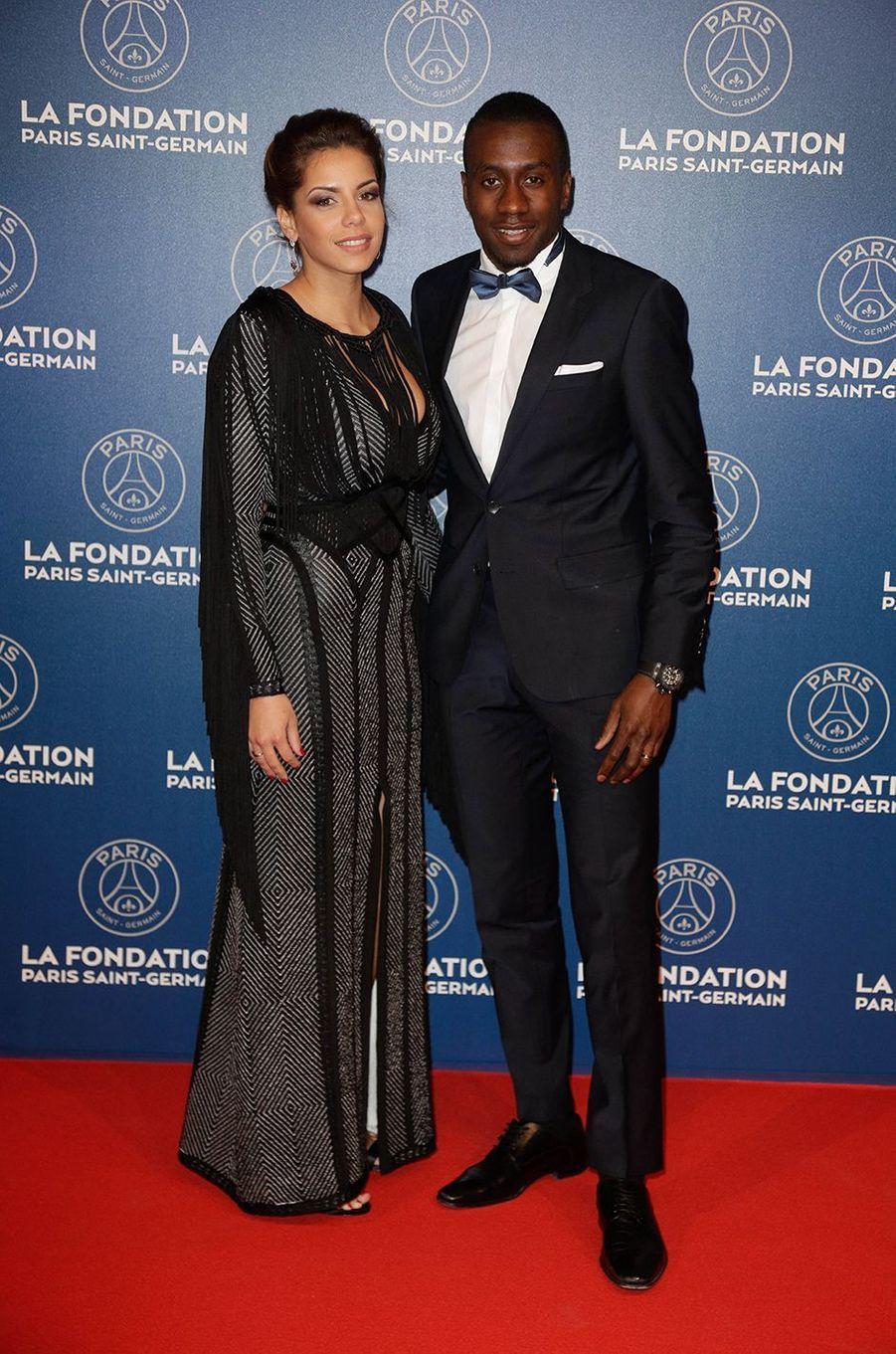 Isabelle et Blaise Matuidi lors du gala annuel de la Fondation PSG à Paris en mars 2016
