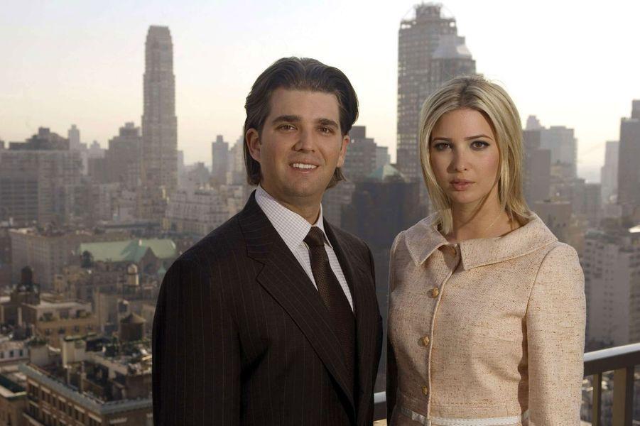 Ivanka Trump et Donald Trump Jr. en 2006