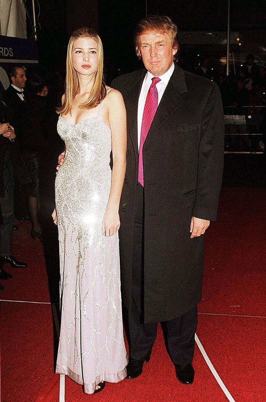 Ivanka Trump et Donald Trump en 1998
