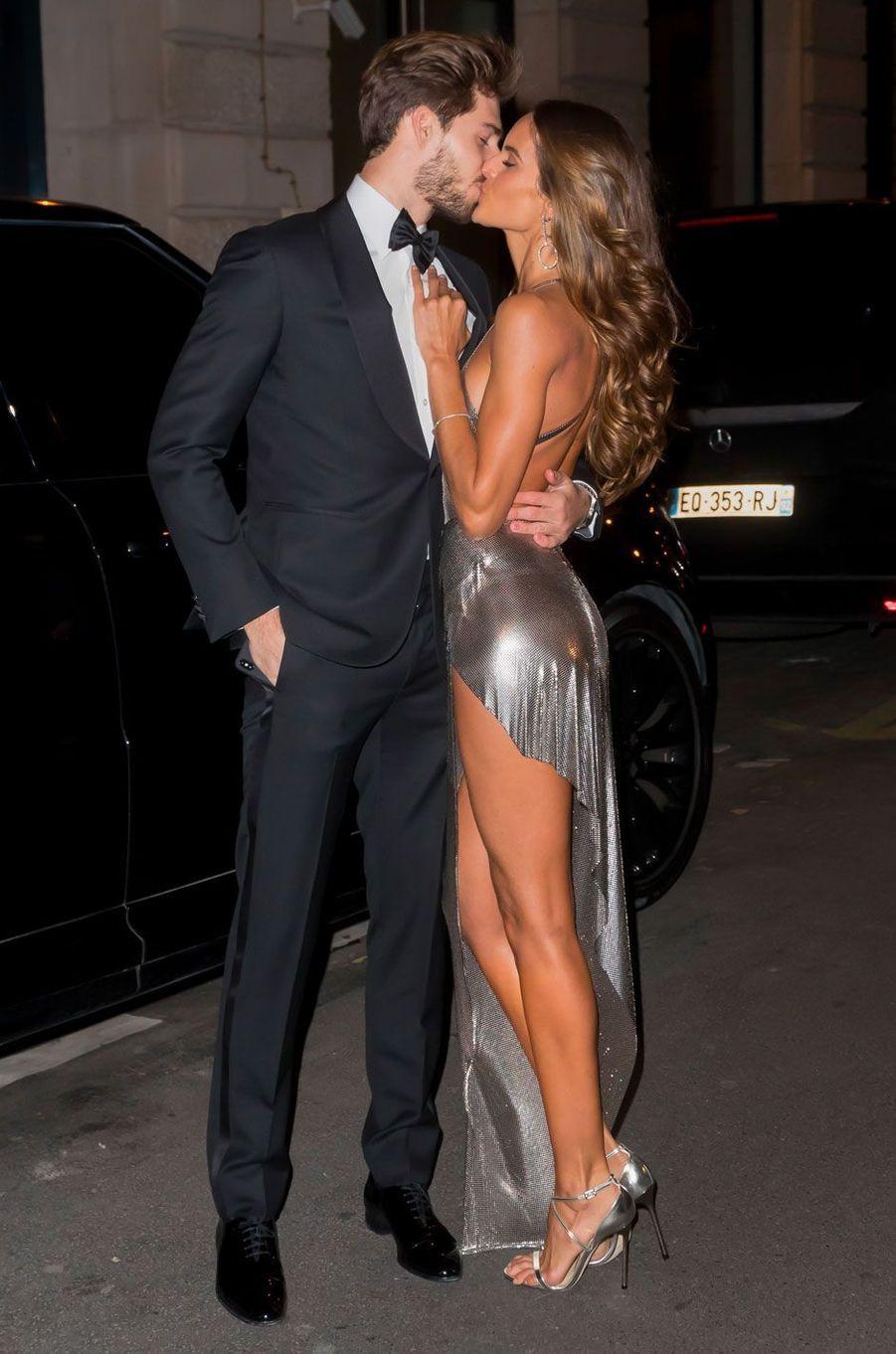 Kevin Trapp et Izabel Goulart en février 2018 à l'anniversaire de Neymar