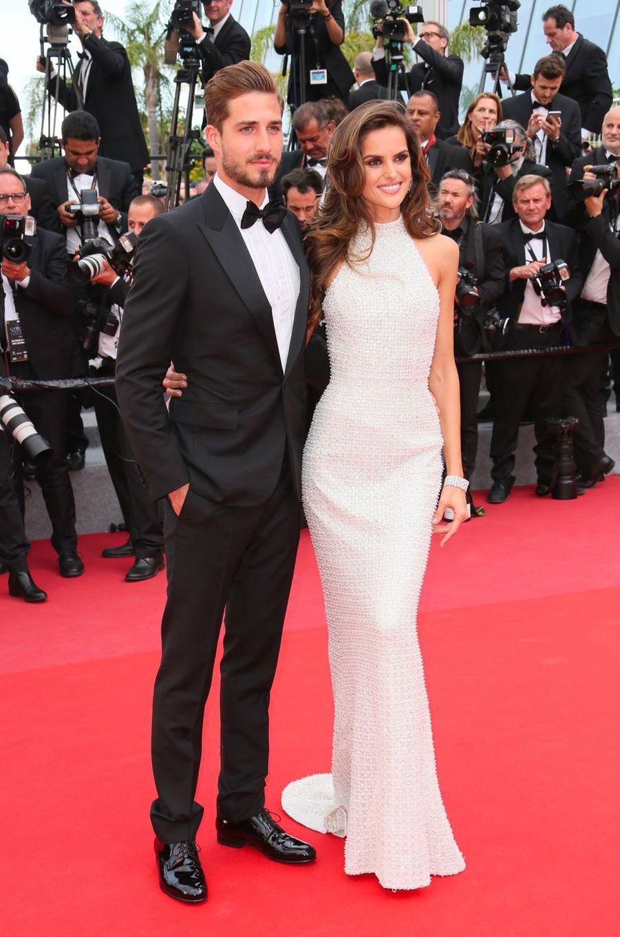 Kevin Trapp et Izabel Goulart en mai 2017 au Festival de Cannes