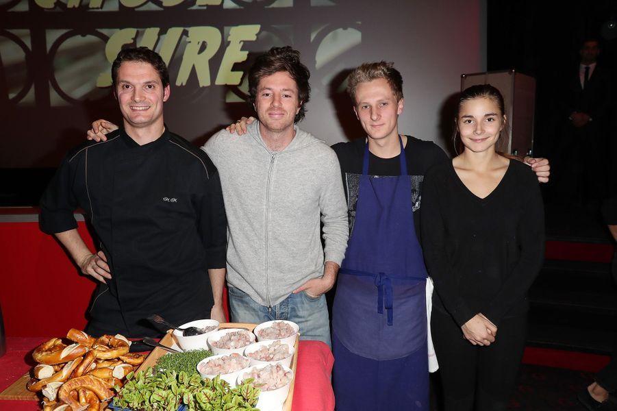 Jean Imbert et son équipe à Paris, le 2 novembre 2016.