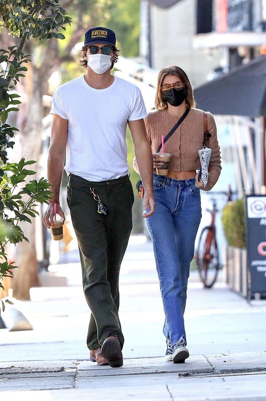 Jacob Elordi et Kaia Gerber à Los Angeles le 3 décembre 2020