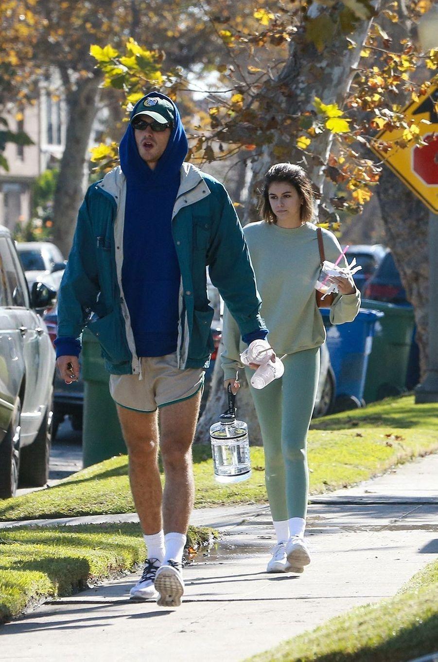 Jacob Elordi et Kaia Gerberà Los Angeles le 2 décembre 2020