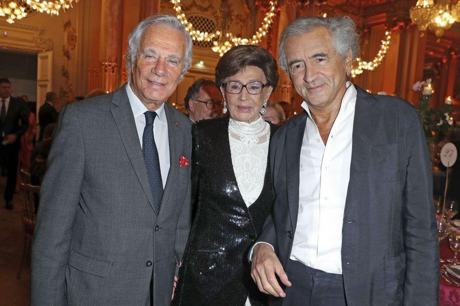 Jean-Gabriel Mitterrand, Jacqueline de Ribes, Bernard-Henri Lévy.