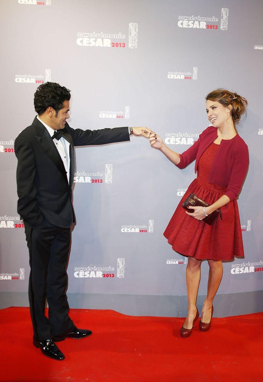Jamel Debbouze et Mélissa Theuriau à la cérémonie des César en 2013