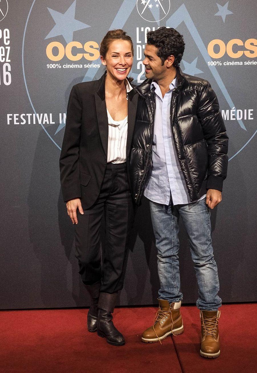 Jamel Debbouze et Mélissa Theuriau au festival de l'Alpe d'Huez en 2017