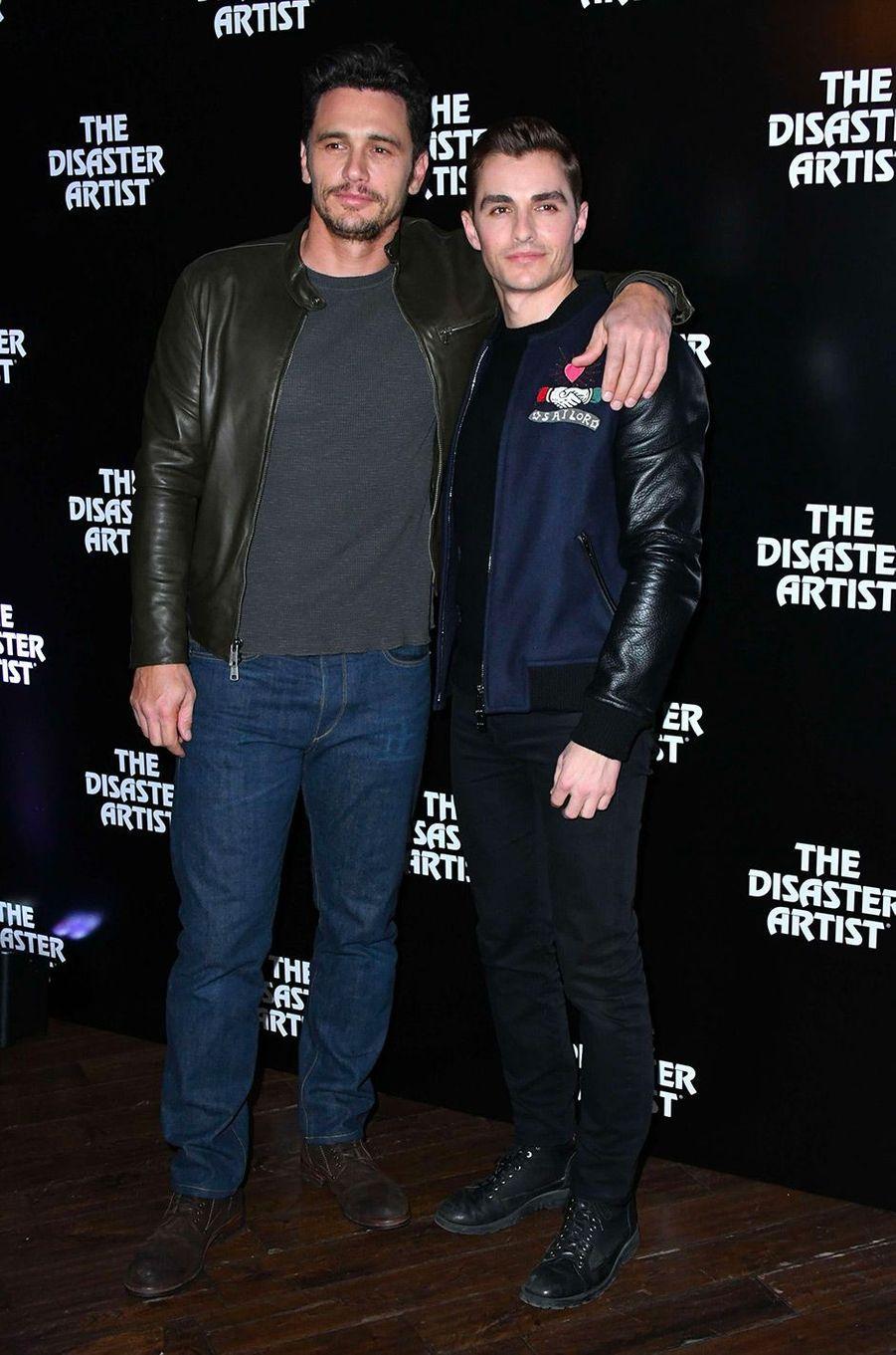 """James et Dave Franco à l'avant-première de """"The Disaster Artist"""" à Londres"""