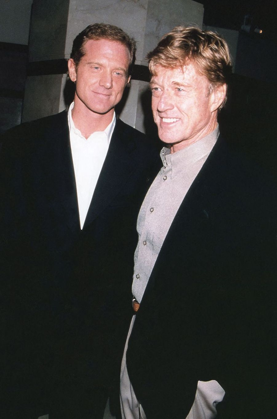 James et Robert Redford à New York en 1999