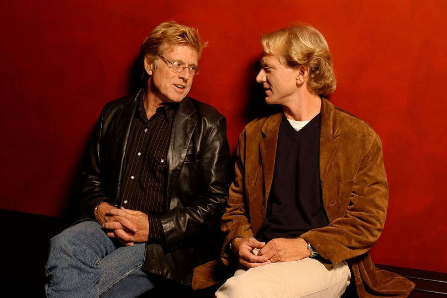 Robert et James Redford à l'AFI Film Festival pour la projection du film «Spin» à Hollywood en 2003