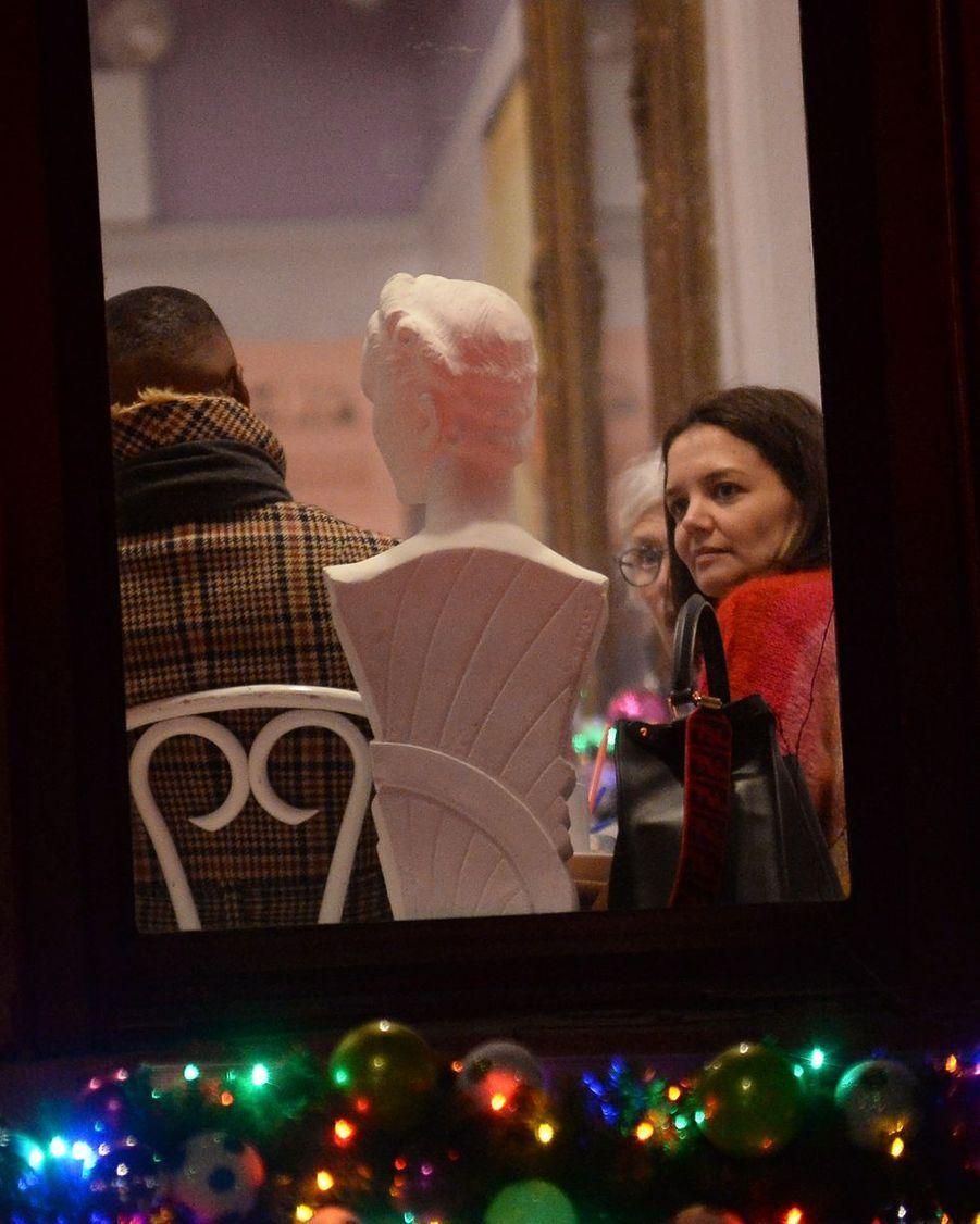 Jamie Foxx et Katie Holmes lors d'un dîner à New York, le 18 décembre 2018