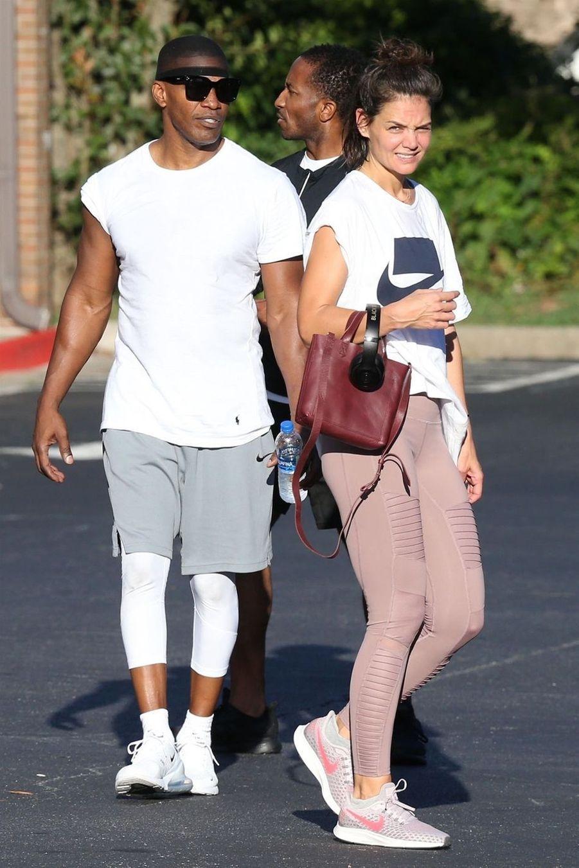 Katie Holmes et Jamie Foxx à la sortie de leur salle de sport, le 17 septembre 2018
