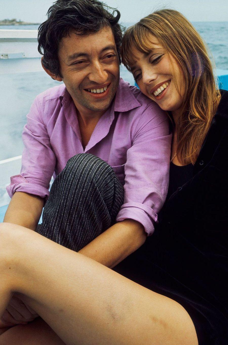 Serge Gainsbourg et Jane Birkin, amoureux.