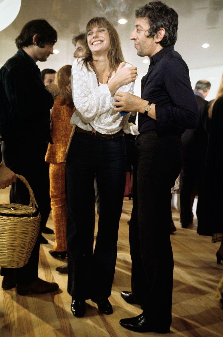 Paris, octobre 1969, Jane Birkin et Serge Gainsbourg.
