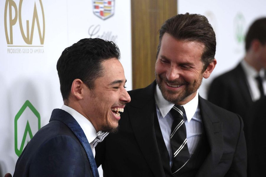 Anthony Ramos et Bradley Cooperaux Producers Guild Awards, le 19 janvier 2019.