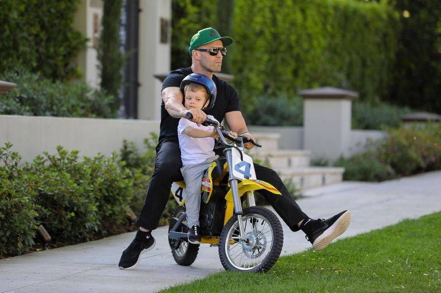 Jason Statham et son fils Jack à Los Angeles le 22 avril 2020
