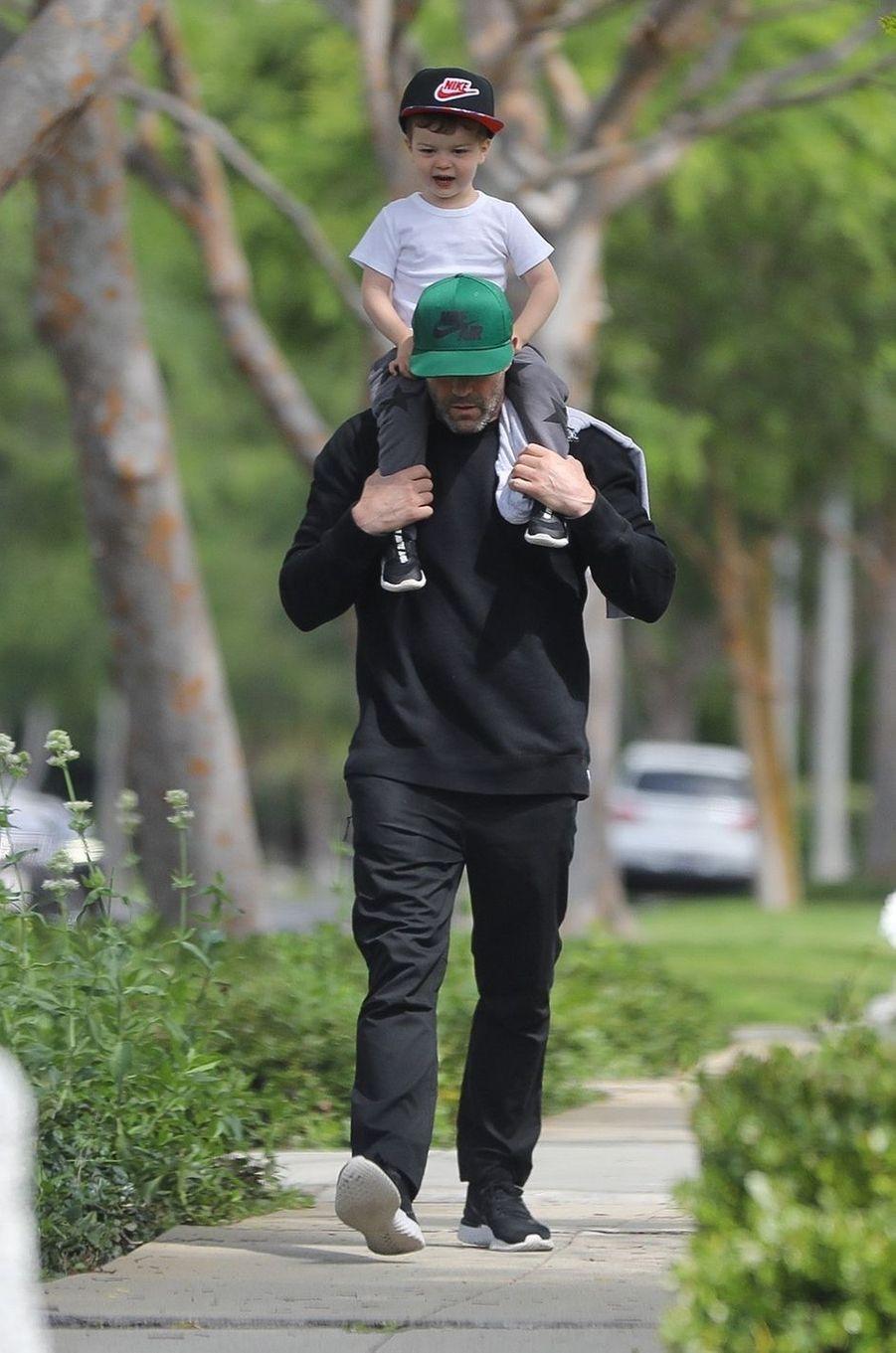 Jason Statham et son fils Jack à Los Angeles le 19 avril 2020