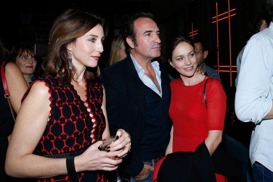 Jean Dujardin et Nathalie Péchalat au 80 ans de Claude Lelouch.
