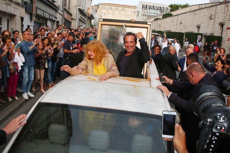 Yolande Moreau et Jean Dujardin au Festival du film francophone d'Angoulême