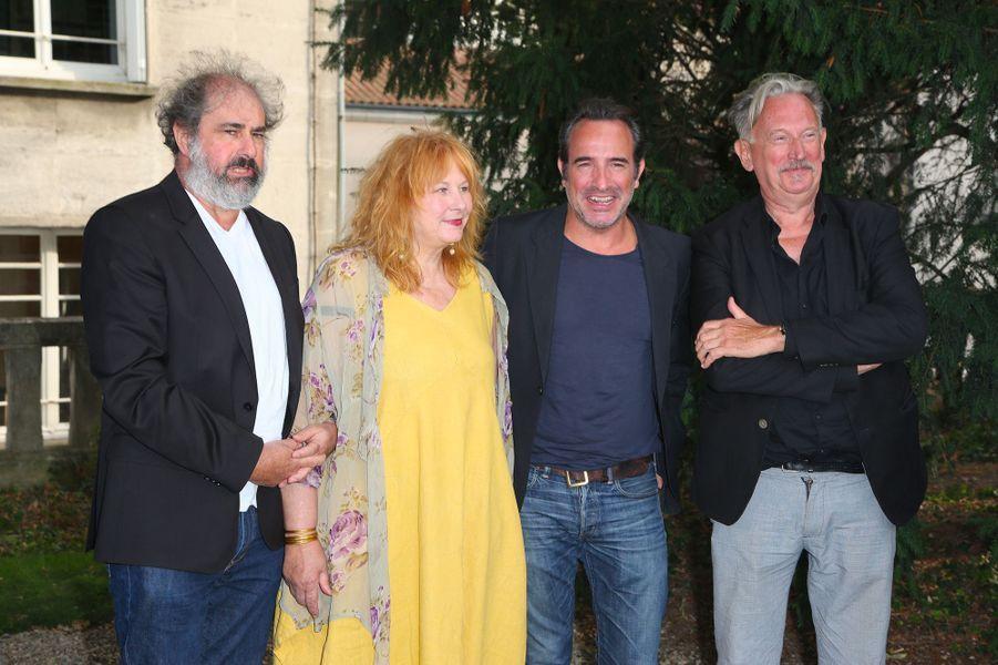 Gustave Kevern, Yolande Moreau, Jean Dujardin et Benoît Delépine au Festival du film francophone d'Angoulême