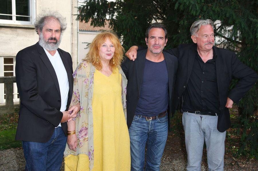 Gustave Kevern, Yolande Moreau, Jean Dujardin et Benoït Delépine au Festival du film francophone d'Angoulême