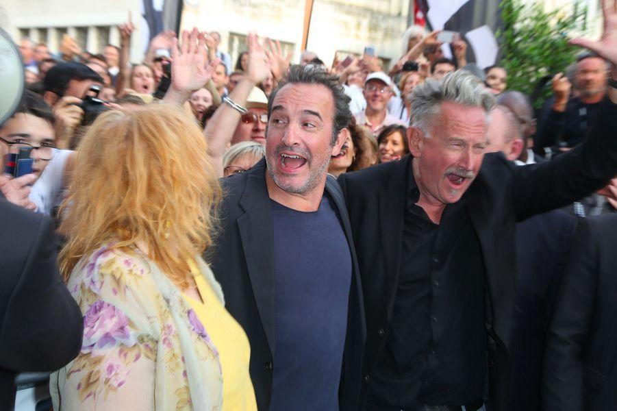 Yolande Moreau, Jean Dujardin et Benoït Delépine au Festival du film francophone d'Angoulême