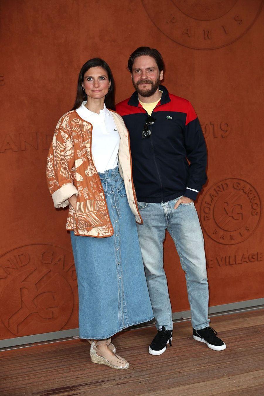 Daniel Brühl et sa compagne Felicitas Romboldà Roland-Garros le 9 juin 2019