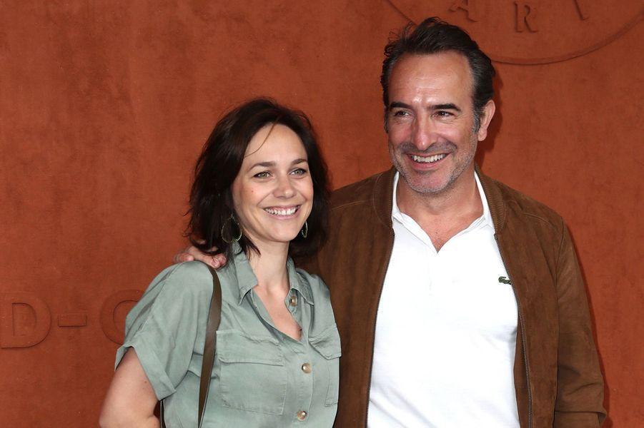 Nathalie Péchalat et Jean Dujardin à Roland-Garros le 9 juin 2019