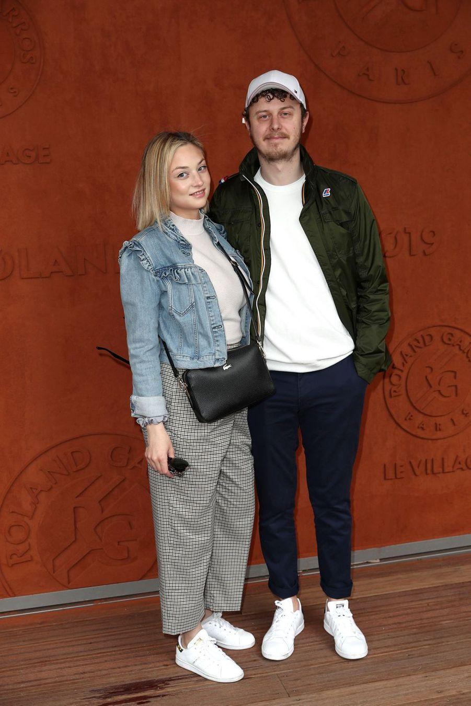 Norman Thavaud et sa compagne Marthaà Roland-Garros le 9 juin 2019