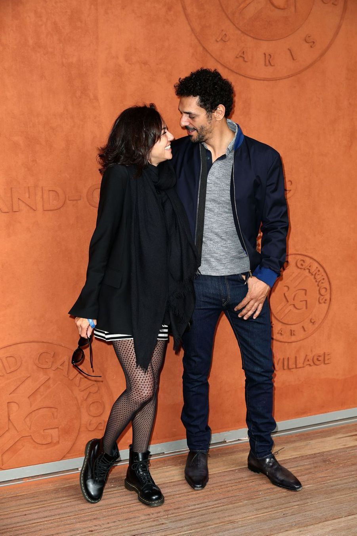 Sandra et Tomer Sisley à Roland-Garros le 9 juin 2019