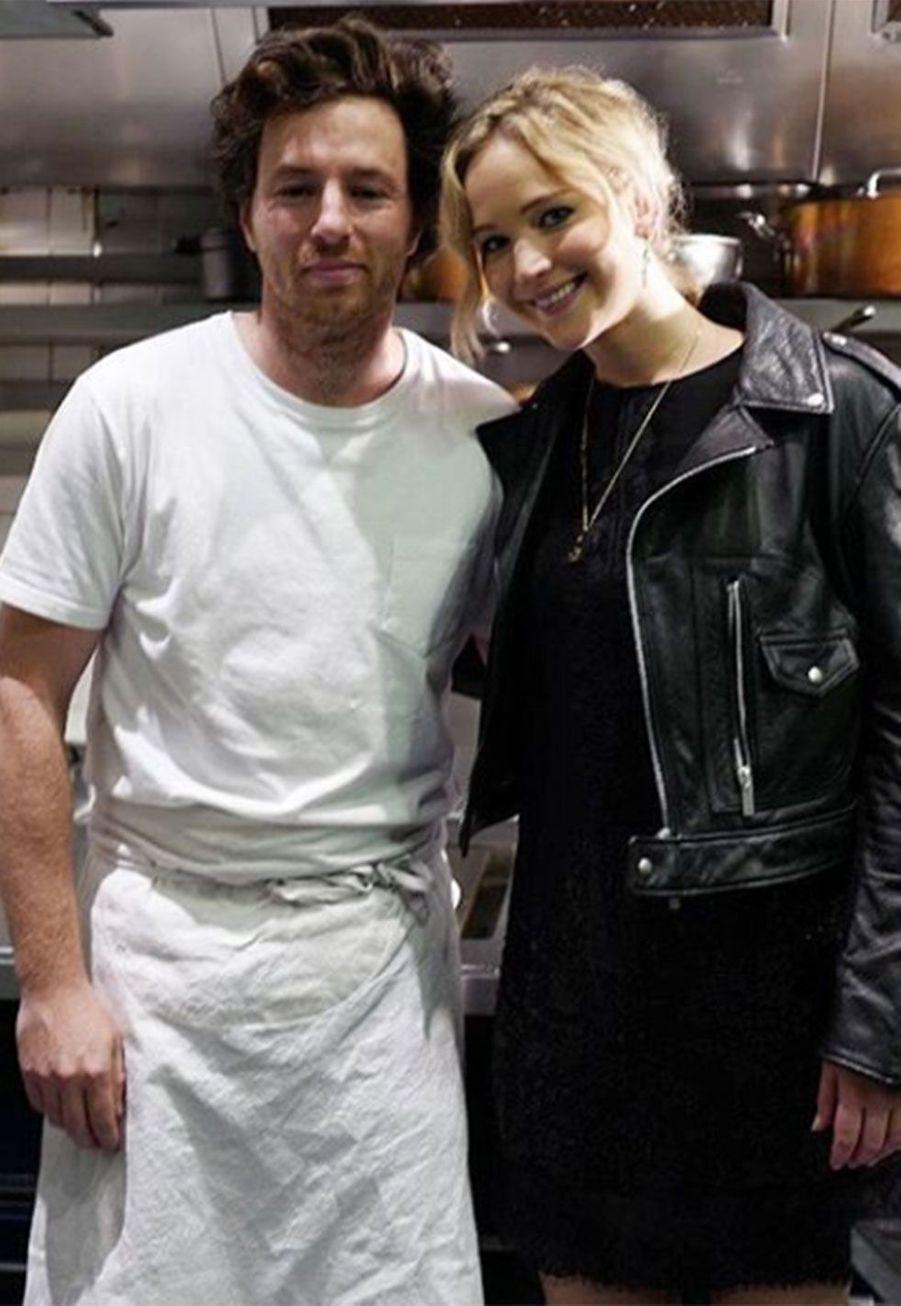 Jean Imbert et Jennifer Lawrence