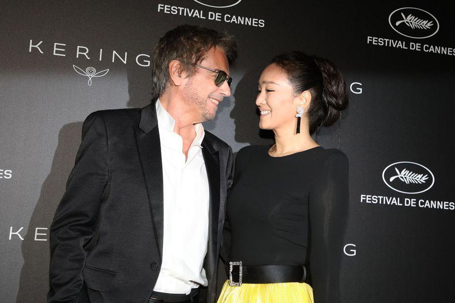 Jean-Michel Jarre et Gong Lià la soirée Kering «Women In Motion Awards» lors du 72ème Festival International du Film de Cannes le 19 mai 2019